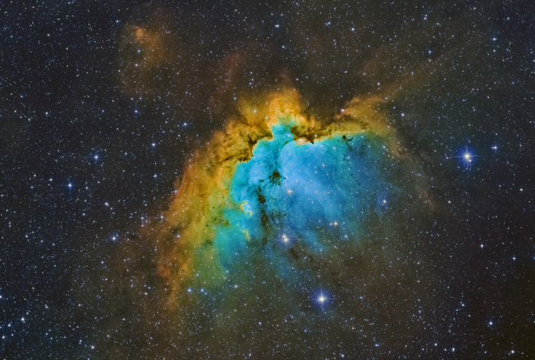 astrofotografia astrofarm alessio di cicco nebulosa mago