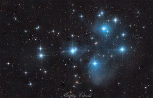 Pleiadi astrofotografia astrofarm